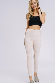 Racheal High Waist Suede Moto Leggings - Product Mini Image