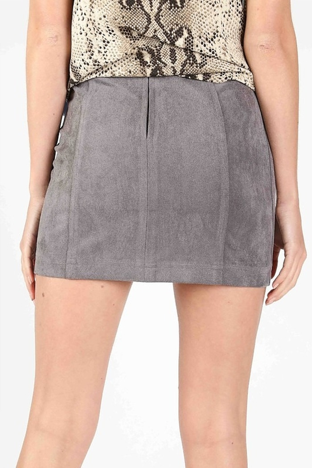 Wild Honey High Waist Suede Skirt - Side Cropped Image