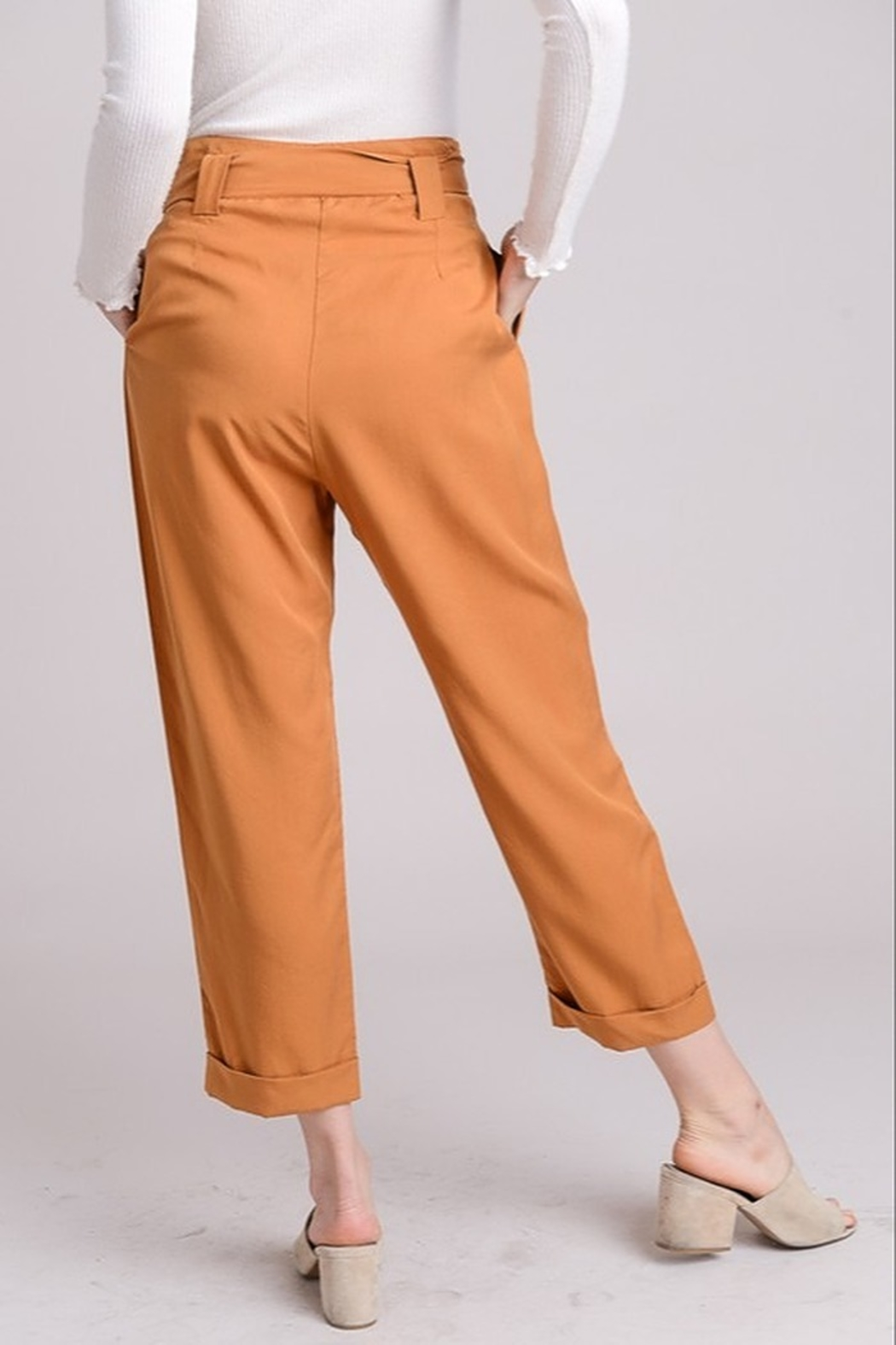 Le Lis High Waist Trousers - Side Cropped Image