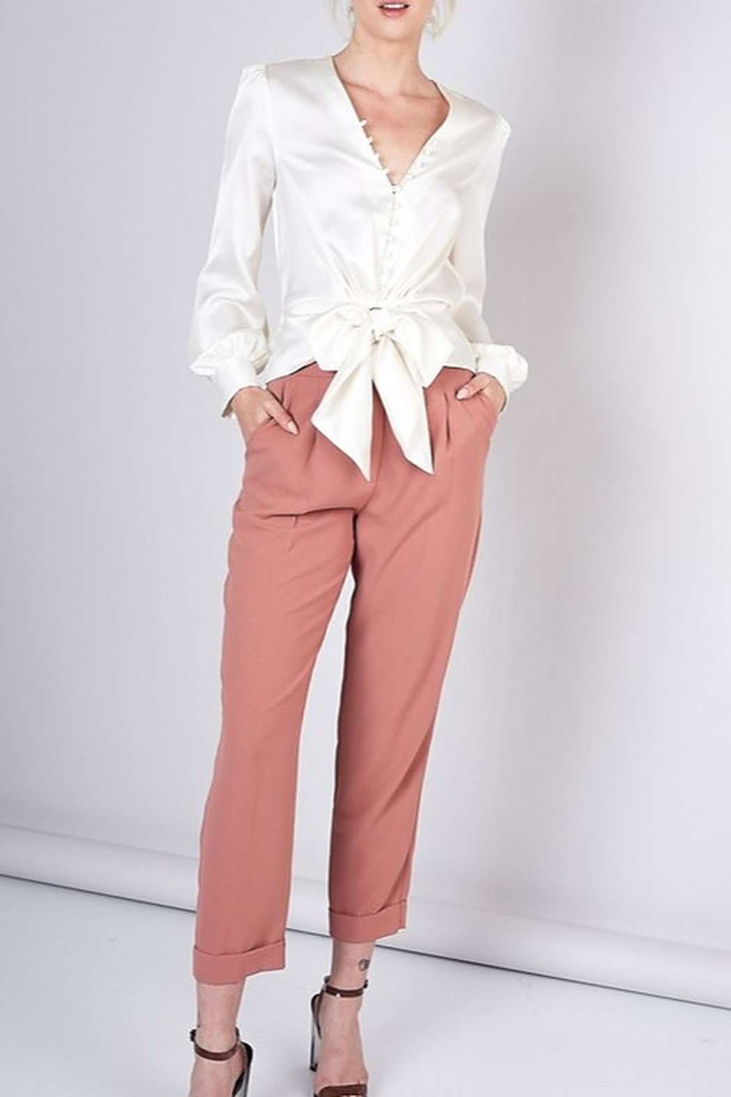 Do & Be High Waist Trousers - Side Cropped Image