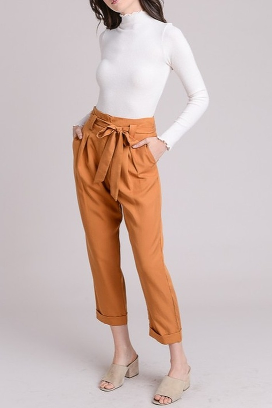 Le Lis High Waist Trousers - Front Cropped Image
