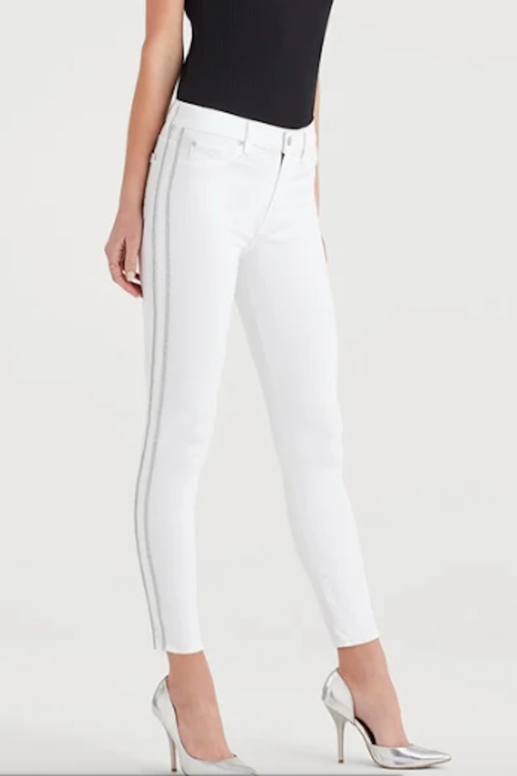 7 For all Mankind High Waist Winter White Fashion Skinny Jean - Main Image