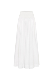 Esse Studios High Waisted A-Line Maxi Ribbed Waist Skirt - Product Mini Image