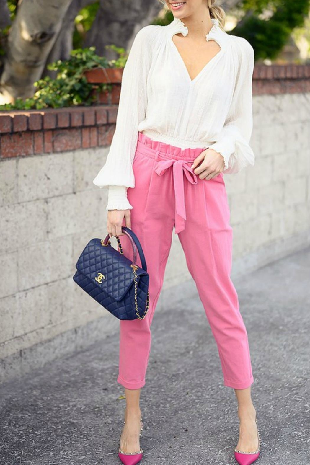 Favlux High-Waisted Ankle Pants - Main Image