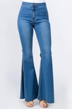 Shoptiques Product: High Waisted Bell Bottom Jeans