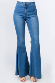 American Bazi High Waisted Bell Bottom Jeans - Product Mini Image