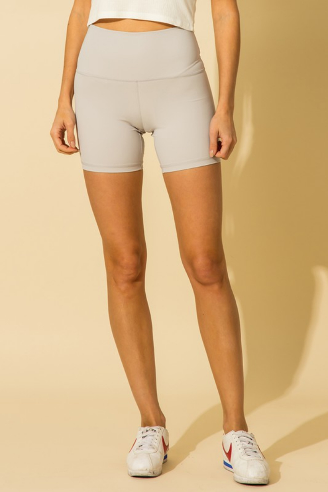 HYFVE High Waisted Biker Short - Front Cropped Image