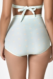 Unique Vintage High Waisted Bikini-Bottom - Front full body