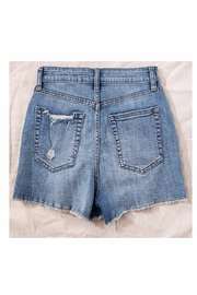 Trend Notes  High Waisted Button Denim Shorts - Side cropped