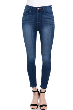 Shoptiques Product: High-Waisted Cropped Denim