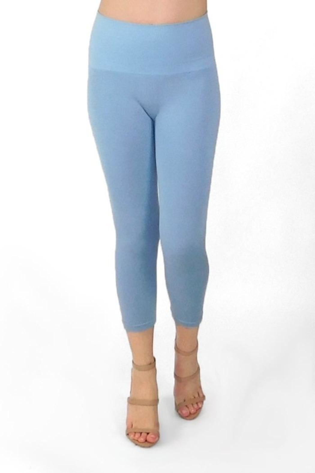 Elietian High-Waisted Cropped Legging - Front Full Image