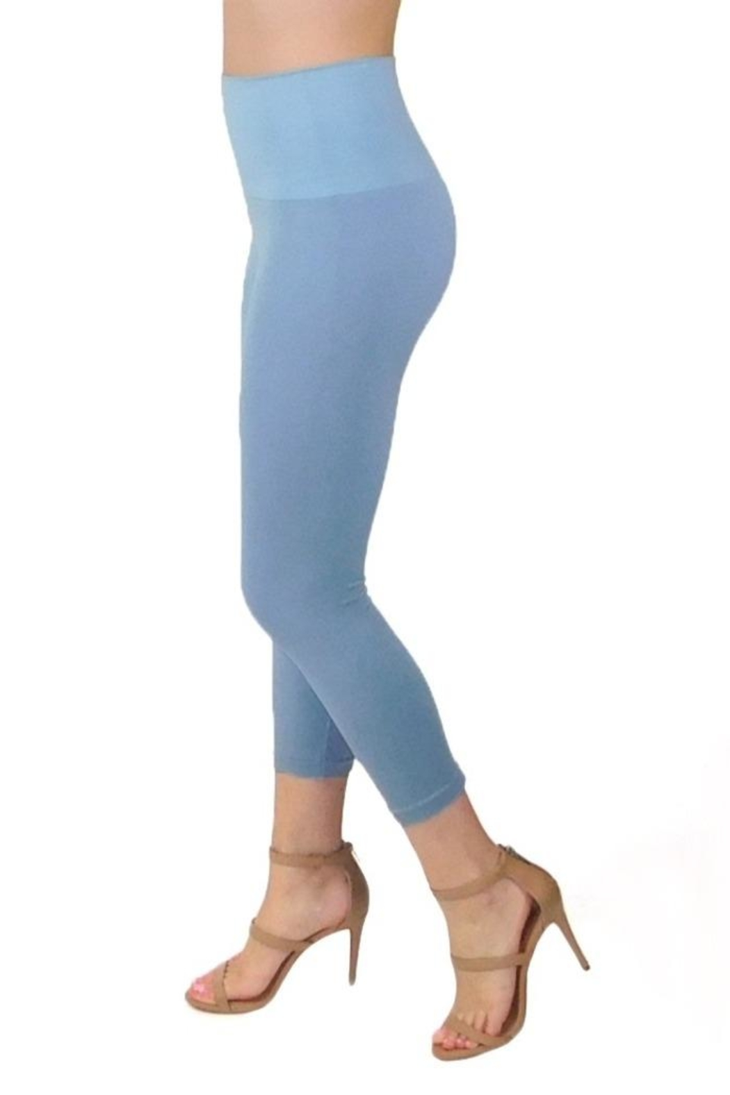 Elietian High-Waisted Cropped Legging - Main Image