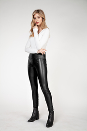 Dex High Waisted Faux Leather Legging - Product Mini Image