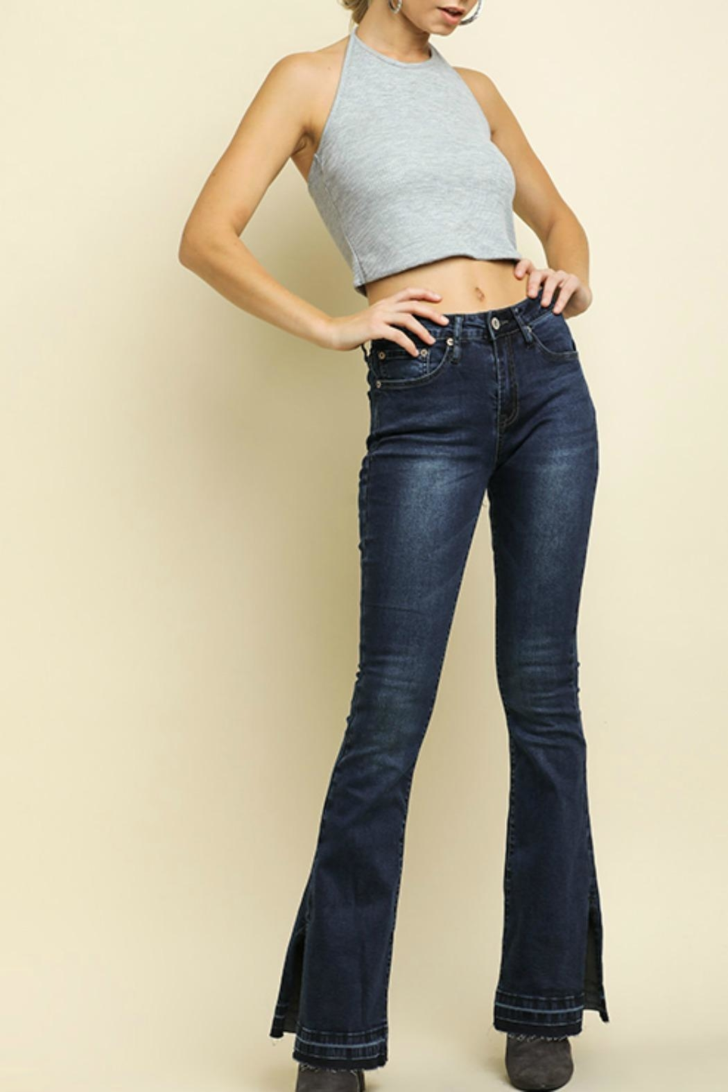 Umgee USA High Waisted Flare - Front Cropped Image