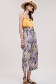 J.O.A. High-Waisted Floral Pant - Front full body