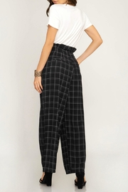 She + Sky High-Waisted Grid Pant - Front full body