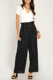 She + Sky High-Waisted Grid Pant - Product Mini Image