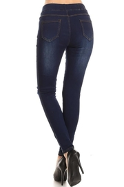 Color 5 High Waisted Jeans - Front full body