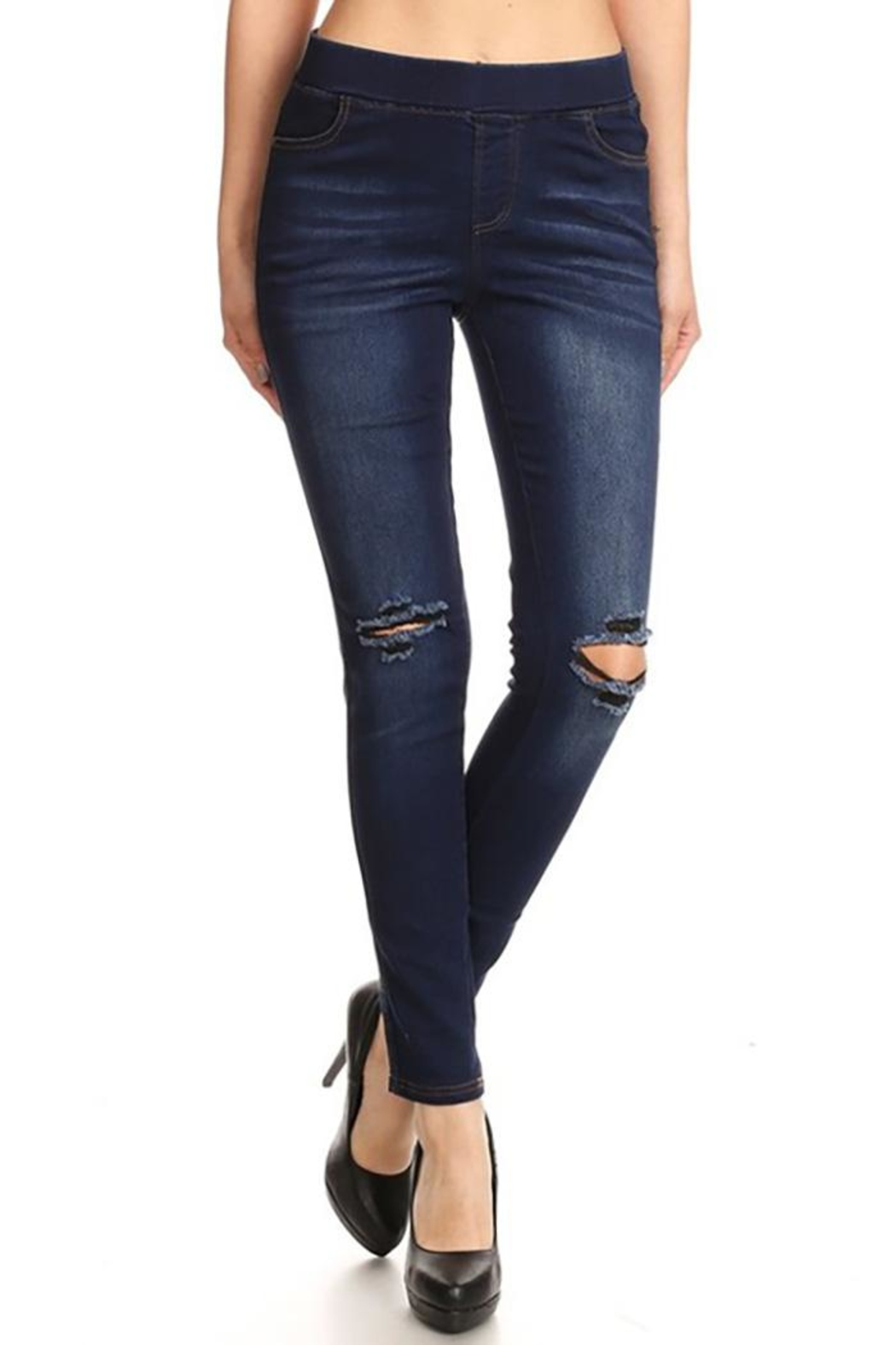 Color 5 High Waisted Jeans - Main Image