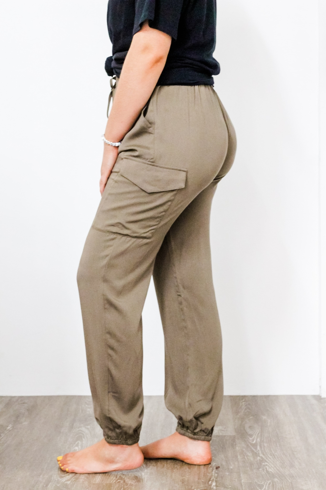 eesome High Waisted Jogger Pant - Front Full Image