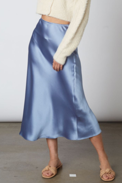 Cotton Candy High waisted midi slip skirt - Product List Image