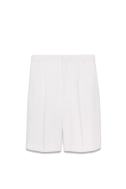 Saint Laurent High-Waisted Pleated in the Front Bermuda Shorts - Product Mini Image