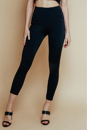 Olivaceous  High Waisted Ponte Pant - Front cropped