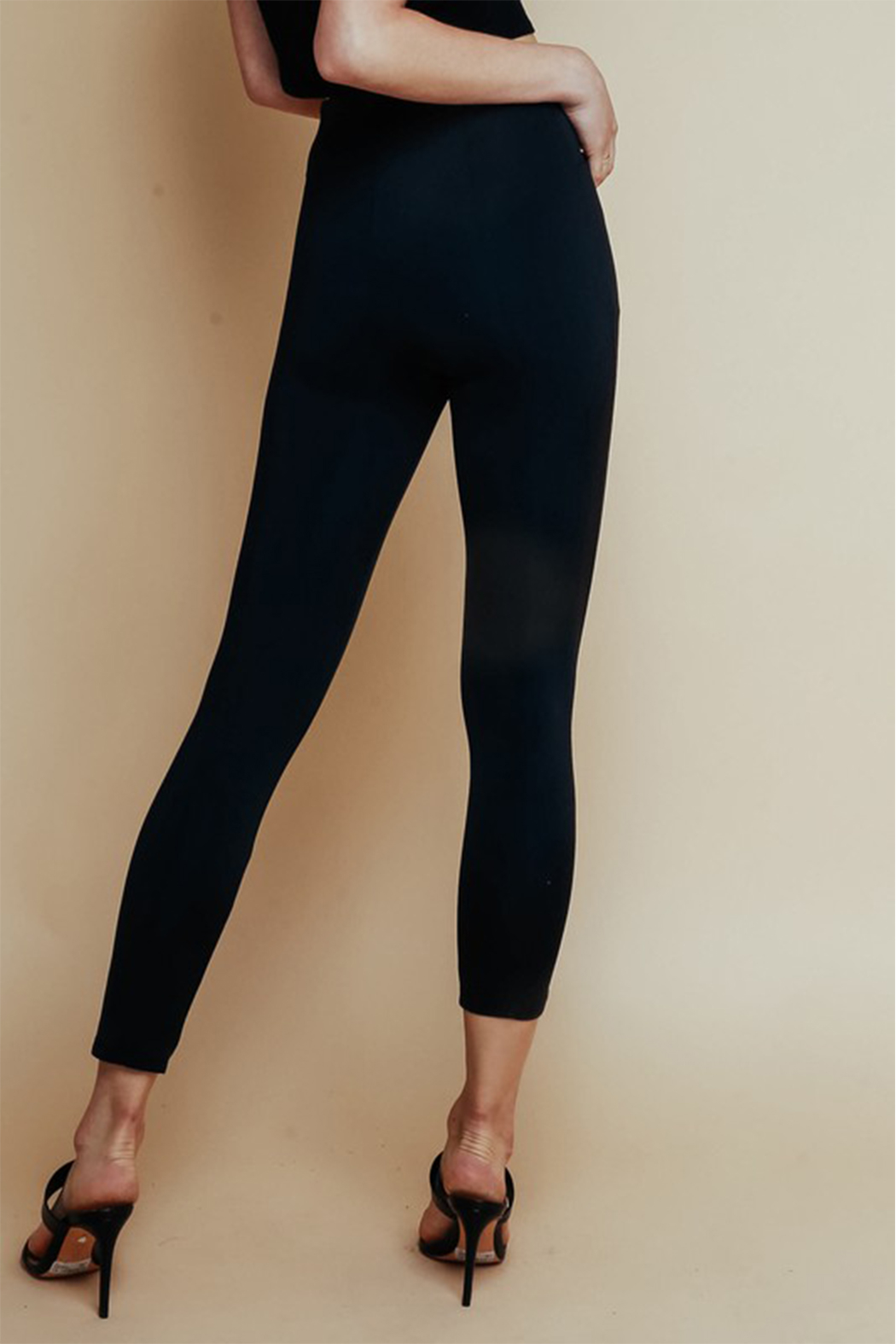 Olivaceous  High Waisted Ponte Pant - Side Cropped Image