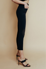 Olivaceous  High Waisted Ponte Pant - Front full body