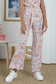 Molly Bracken High Waisted Printed Floral Trouser - Product Mini Image