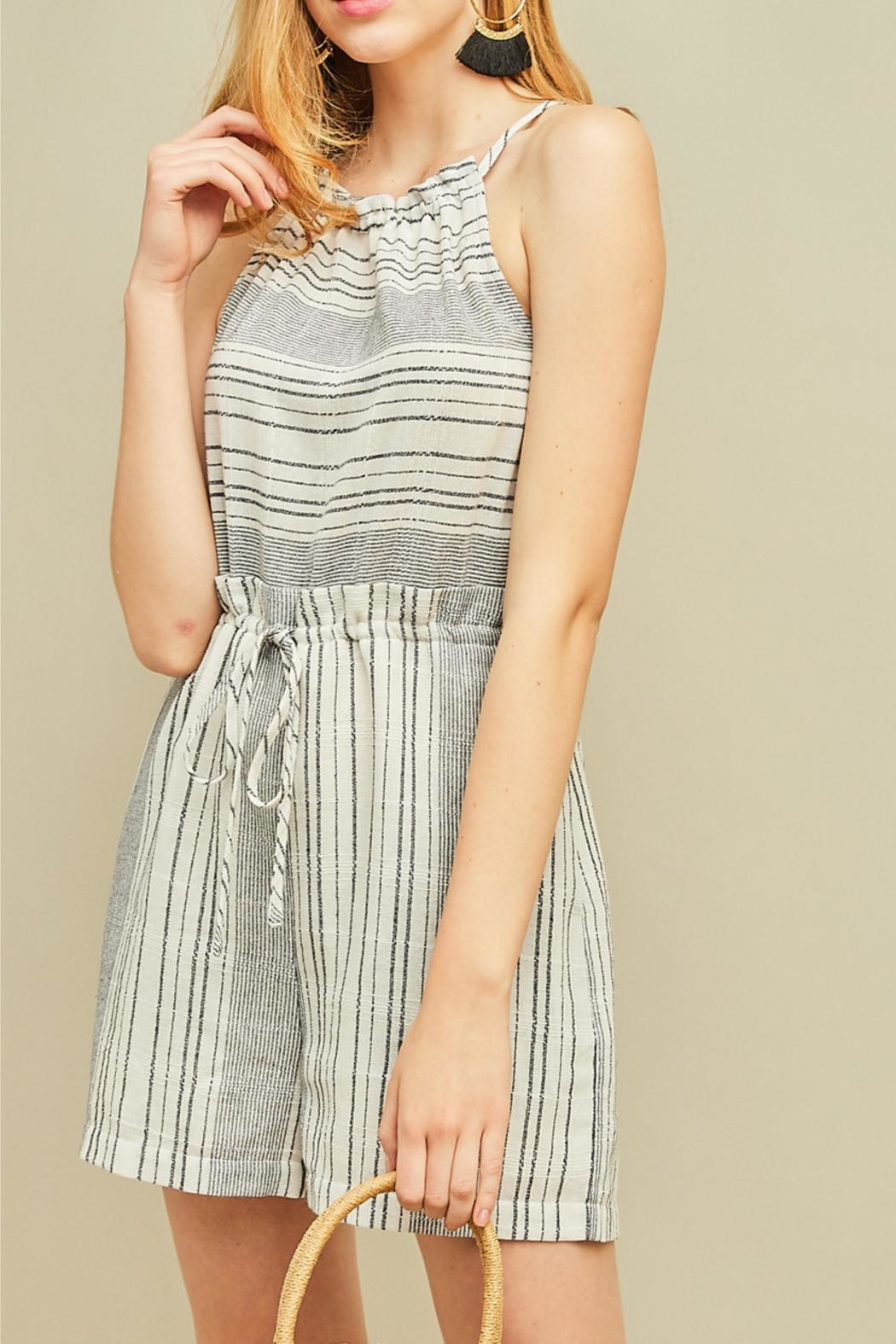 Entro High Waisted Romper - Side Cropped Image