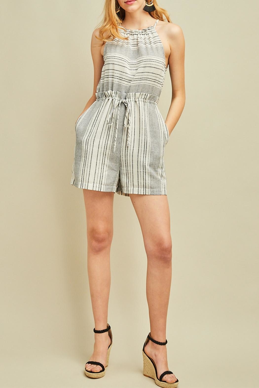 Entro High Waisted Romper - Main Image