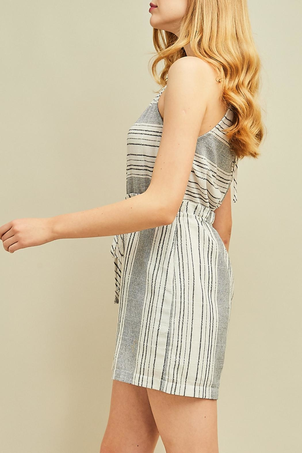 Entro High Waisted Romper - Back Cropped Image