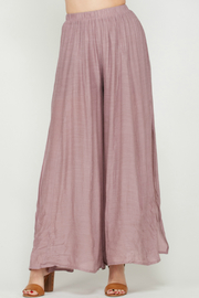 Wishlist High Waisted Side Slit Palazzo Pants - Product Mini Image
