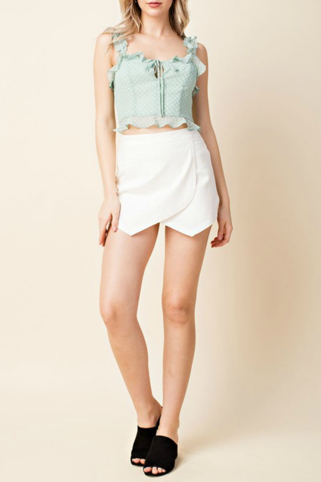 Honey Punch High Waisted Skirt - Side Cropped Image