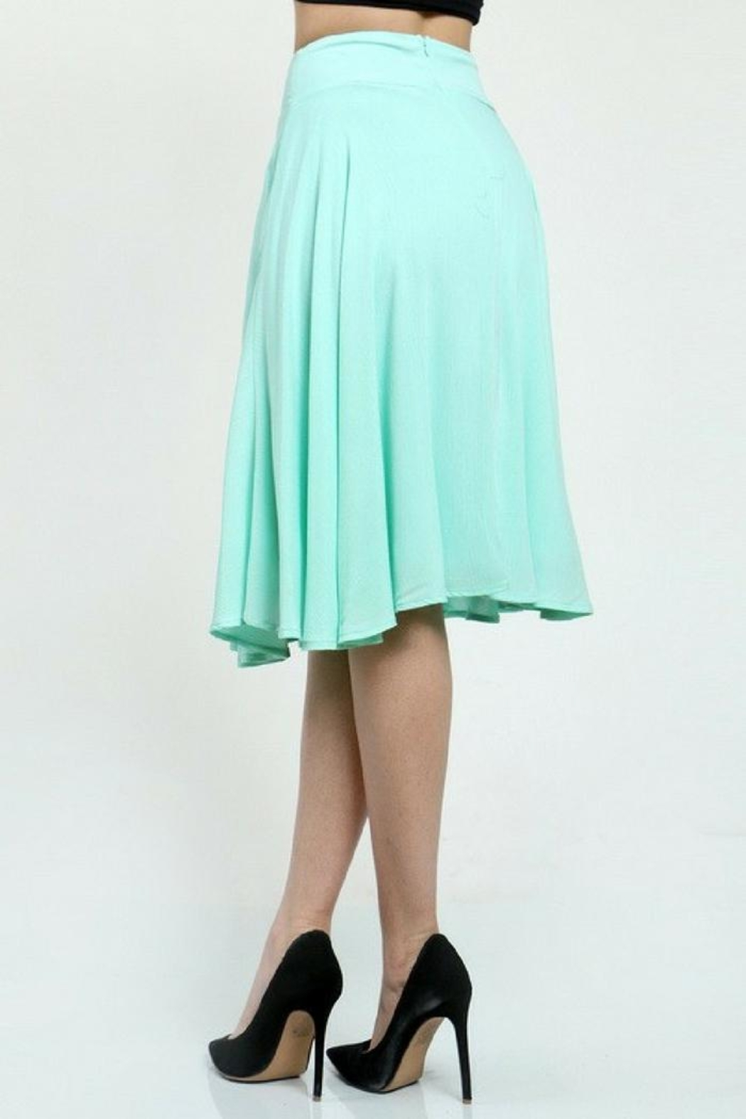 WTD High Waisted Skirt - Side Cropped Image