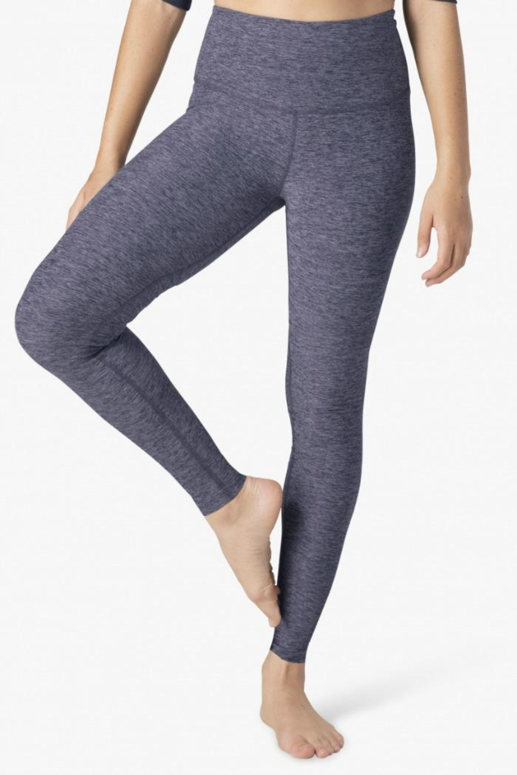 d7a340809cb5e Beyond Yoga High-Waisted Space-Dye Leggings - Front Cropped Image