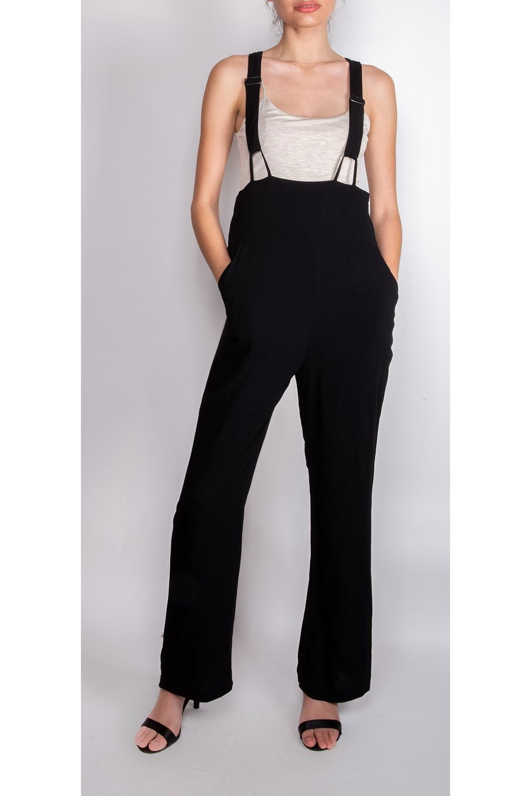 Illa Illa High-Waisted Suspender Pants - Front Cropped Image