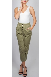 Final Touch High-Waisted Trouser Olive - Product Mini Image