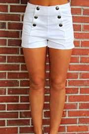 Elise High-Waisted White Shorts - Product Mini Image