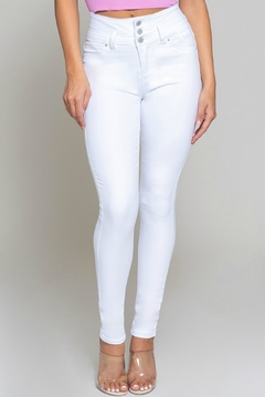 YMI Jeanswear High-Waisted White Skinny - Product List Image