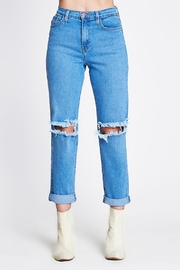 Vibrant MIU High Wasted Mom Jeans - Product Mini Image