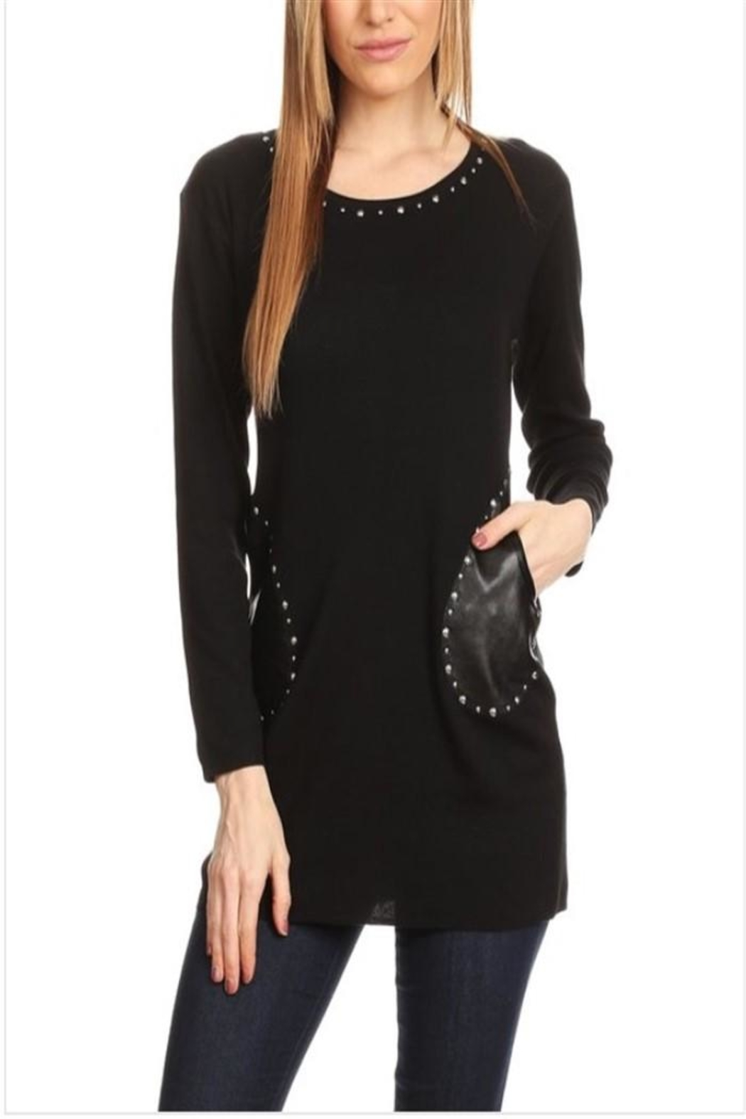 High Secret Embellished Tunic Top - Front Cropped Image