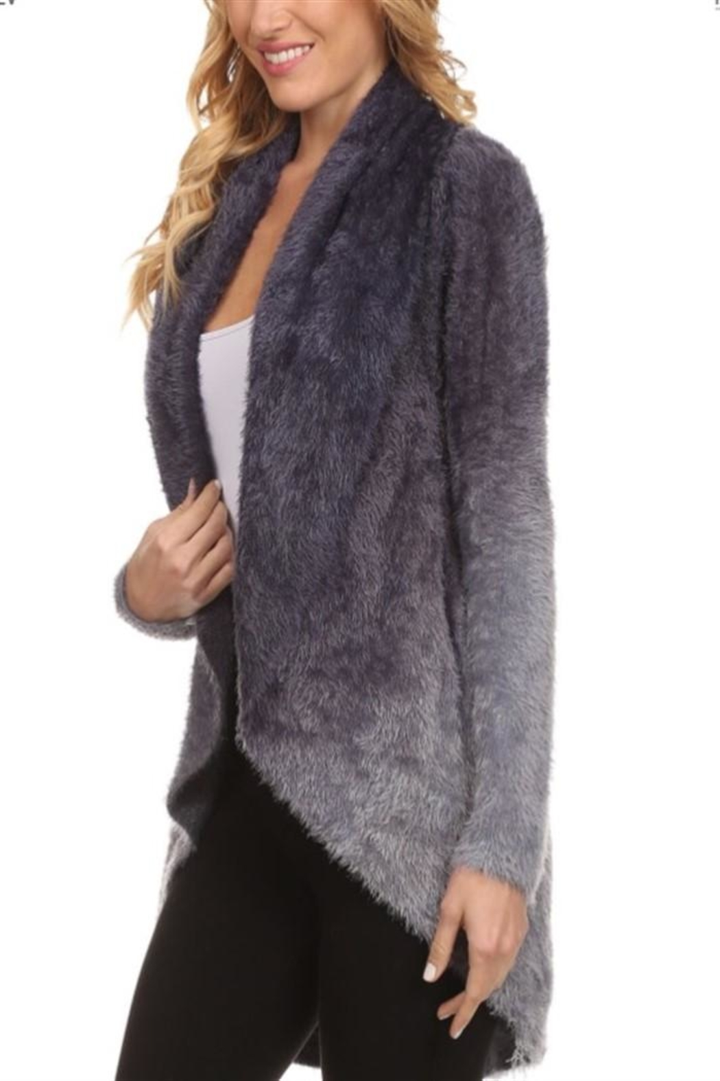 High Secret Fuzzy Cardigan - Side Cropped Image
