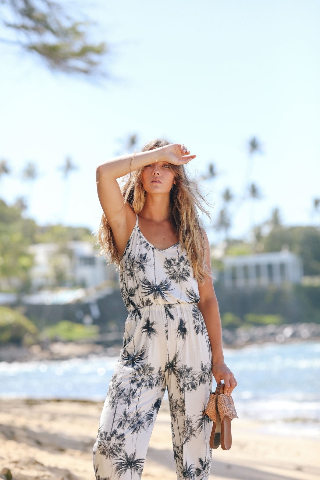 VERMILLI HAWAII Highline-Jumpsuit in Sky-High - Main Image