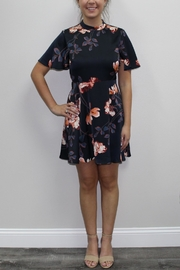 Black Swan Highneck Floral Dress - Product Mini Image