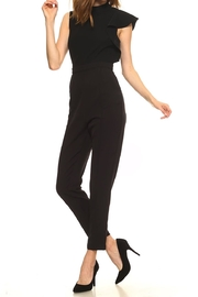 Made by Mila Highneck Ruffle Jumpsuit - Front cropped