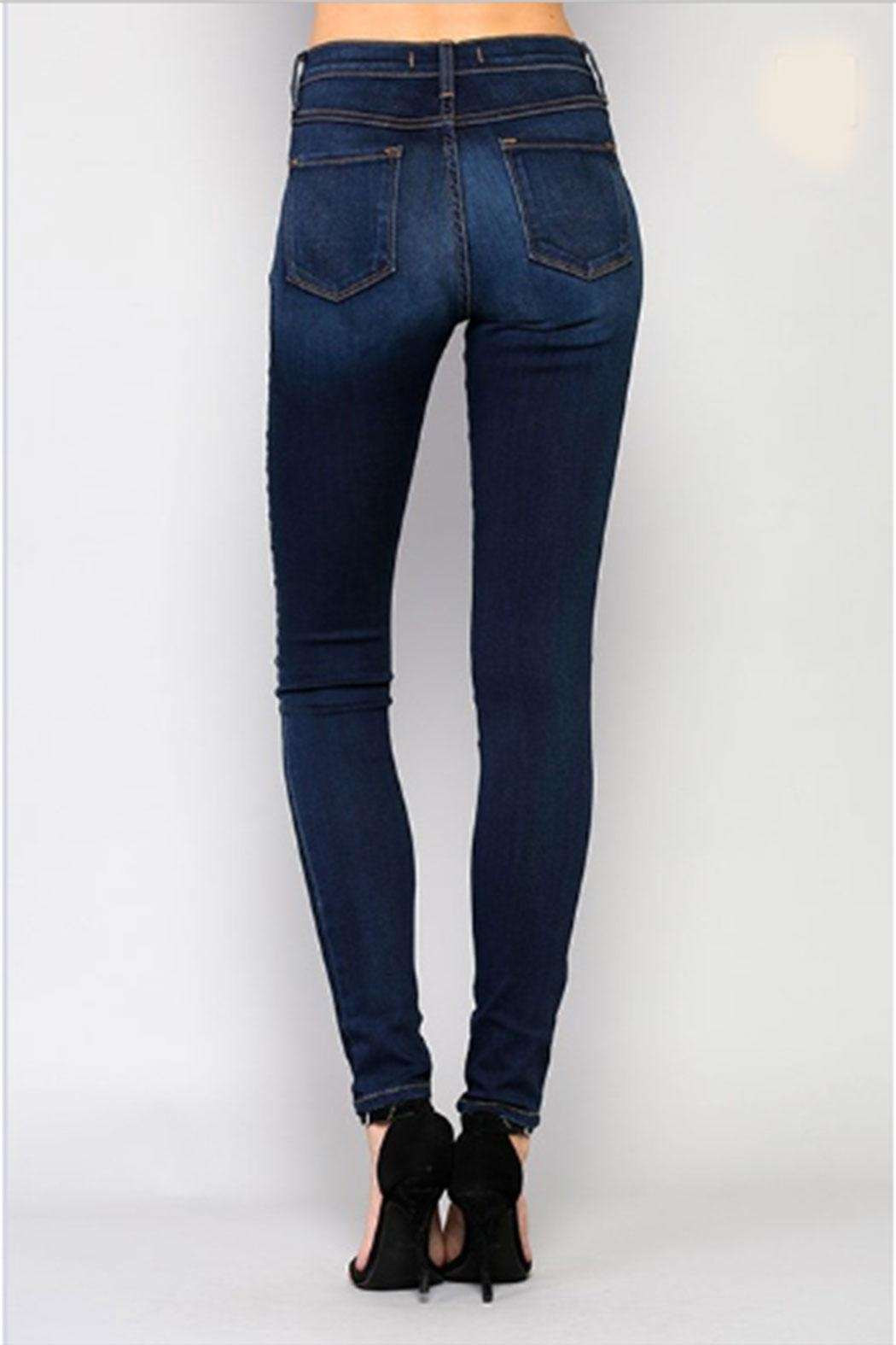 Flying Monkey Highrise Skinny Jean - Side Cropped Image