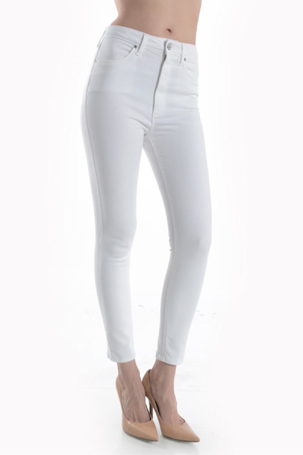 just black Highrise Skinny White - Front Full Image