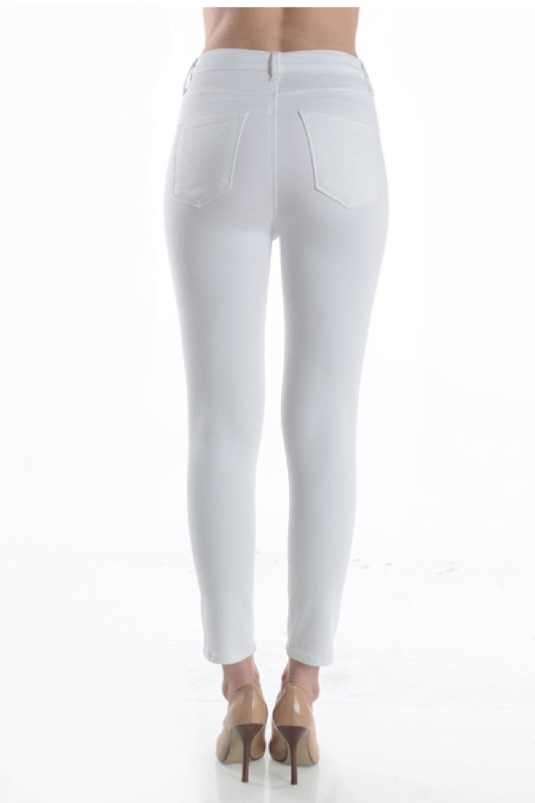just black Highrise Skinny White - Side Cropped Image